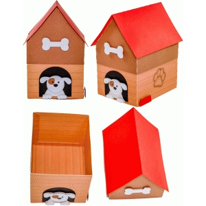 boy dog house box
