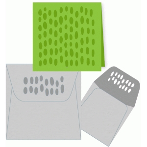 graphic mini card and envelope ovals