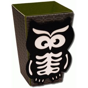 3d skeleton owl popcorn box