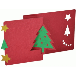 christmas tree flip card