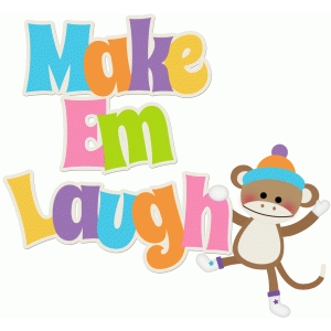 make em laugh sock monkey