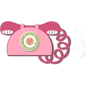 retro telephone shape card