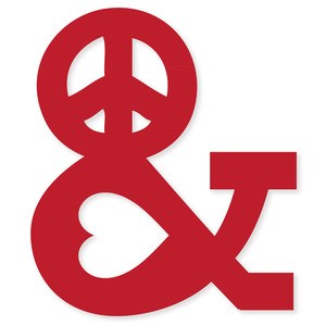 peace & love ampersand