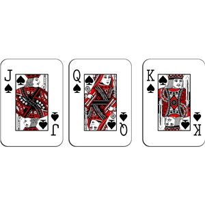 playing cards - spades royalty