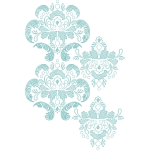 damask sketch background