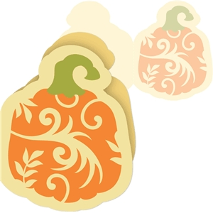 3 piece swirl pumpkin card