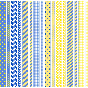 blue and yellow washi tape