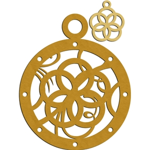 5 golden rings charm & ornament
