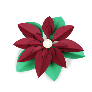 poinsettia 3d flower