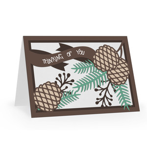 thinking of you pinecones card