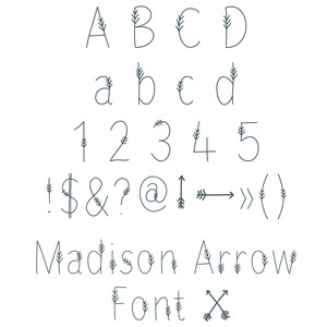 madison arrow font