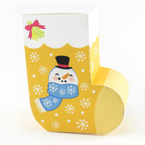 snowman christmas stocking box