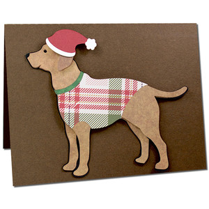 labrador retriever in a sweater card