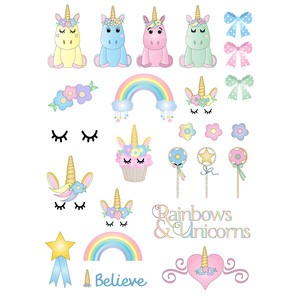 unicorn planner stickers