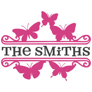 butterfly split monogram title