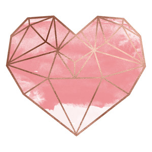 pink prism heart