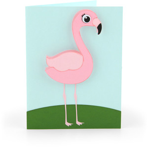 bobble head card flamingo