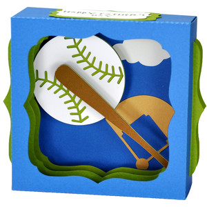 father's day baseball gift card box