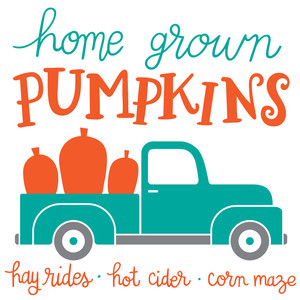 home grown pumpkins sign