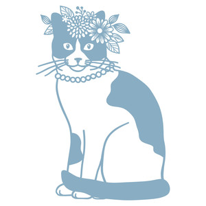 kitty with flower crown