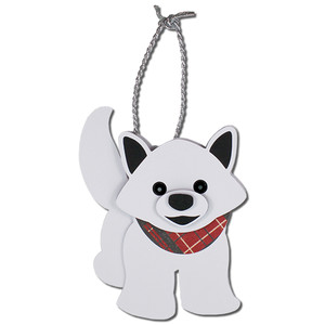 arctic fox gift tag ornament