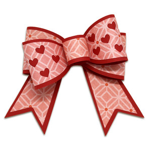 double heart bow