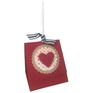 scallop edge valentine lollipop holder