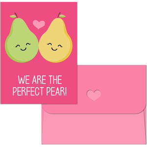 valentine print and cut pear