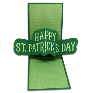 st. patrick's day twist pop card