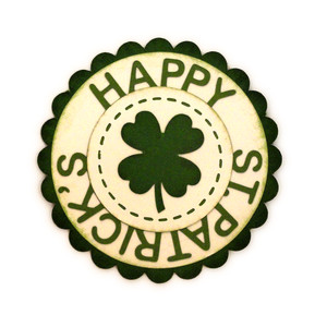 happy st patricks circle tag