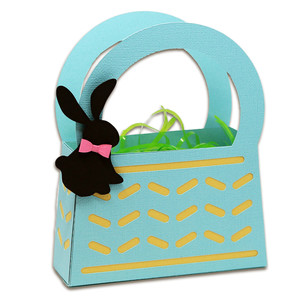 basket with stitched bunny