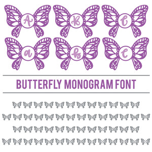 butterfly monogram font