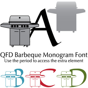 qfd barbeque monogram font