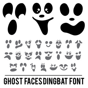 ghost faces dingbat font