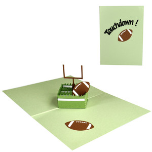touchdown! football pop up box in a card