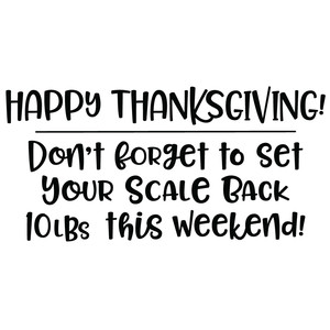 happy thanksgiving scale quote