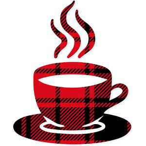 buffalo plaid coffee mug