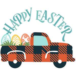 happy easter truck