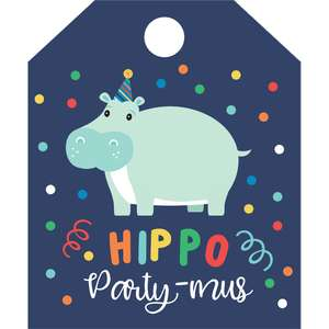 hippo party-bus tag