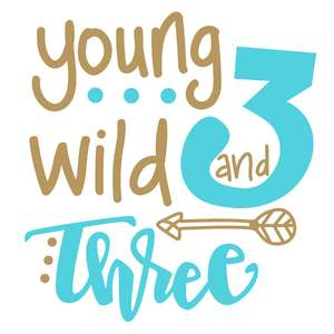 young wild and three birthday phrase