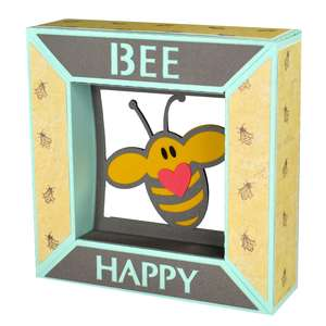 bee happy framed
