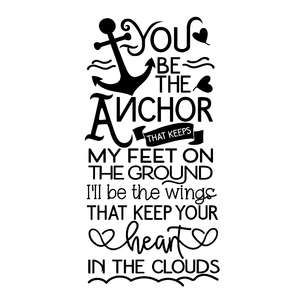 you be the anchor