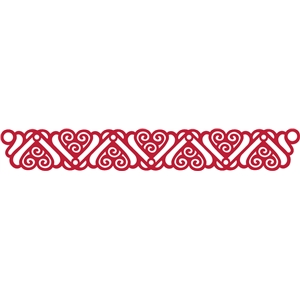 deco hearts border