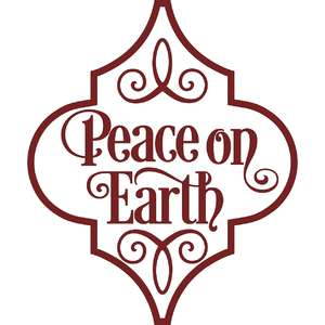 peace on earth christmas ornament arabesque