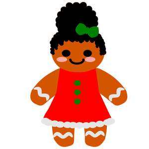 afro gingerbread girl puff