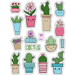 ml cactus faces stickers