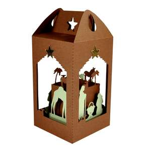 nativity filled lantern