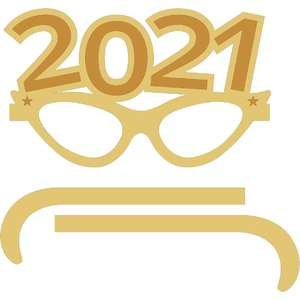 new year 2021 cat eye glasses