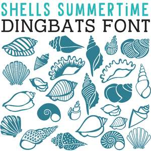 cg shells summertime dingbats
