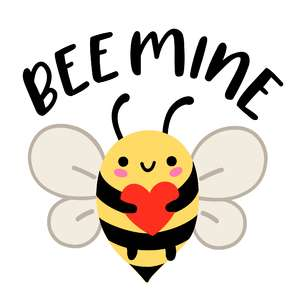 bee mine bumble bee with heart